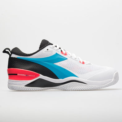 Diadora Speed Blushield 4 Clay Men's White/Blue Fluo