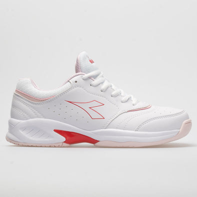 Diadora Smash 3 Women's White/Lively Hibiscus Red