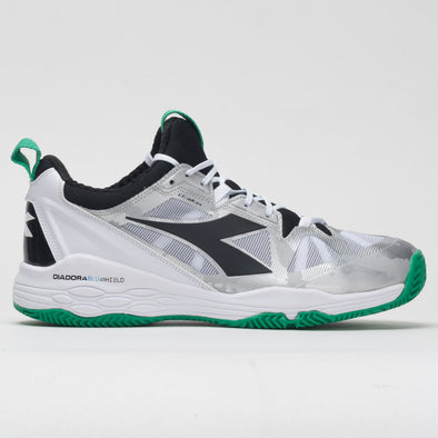 Diadora Speed Blushield Fly 2+ Clay Men's White/Holly Green/Black