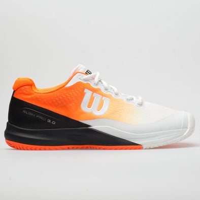 Wilson Rush Pro 3.0 Paris Men's White/Shocking Orange/Black