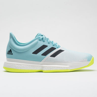 adidas SoleCourt Men's White/Core Black/Solar Yellow