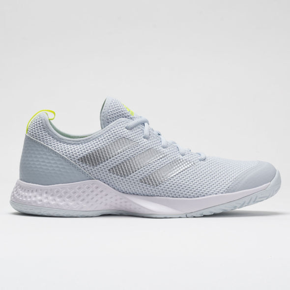 adidas Court Control Women's White/Silver Metallic/Halo Blue