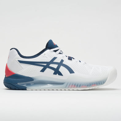 ASICS GEL-Resolution 8 Men's White/Mako Blue