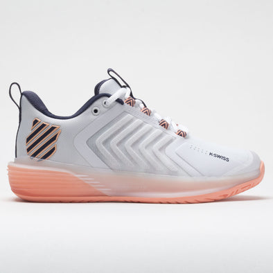 K-Swiss Ultrashot 3 Women's White/Peach Nectar/Graystone