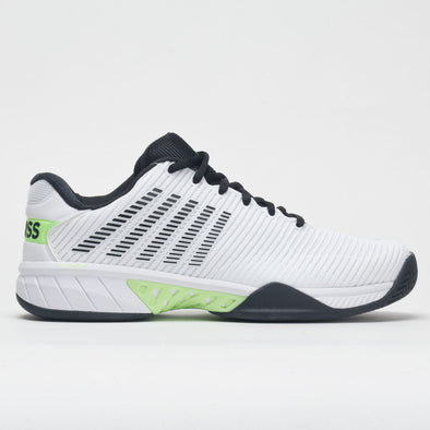 K-Swiss Hypercourt Express 2 Men's White/Graphite Blue/Soft Neon Green