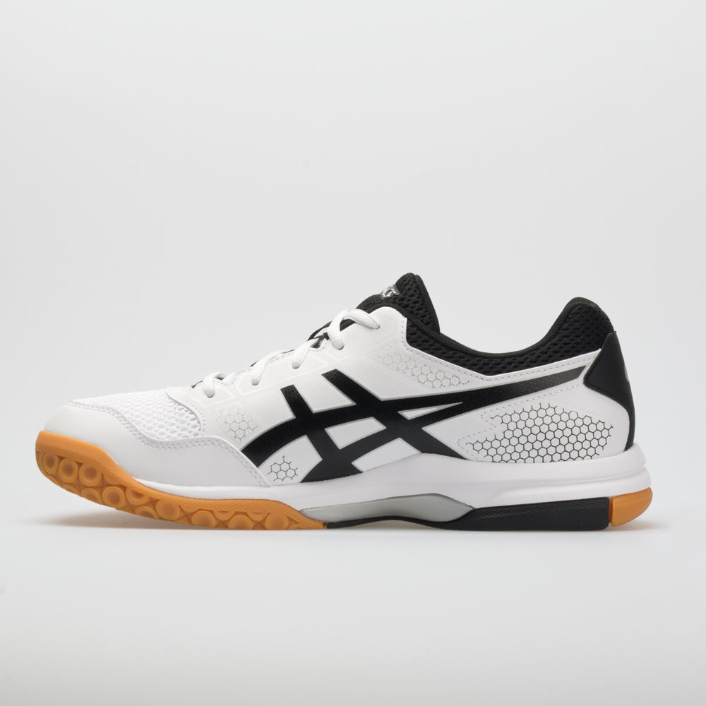 45b3cb7f19a3a6 ASICS GEL-Rocket 8 Men s White Black Silver – Holabird Sports
