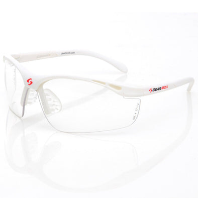 Gearbox Slim Fit Clear Lens White Frame