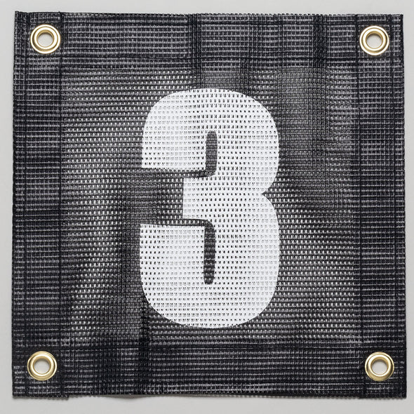 Tennis Court Numbers - Mesh