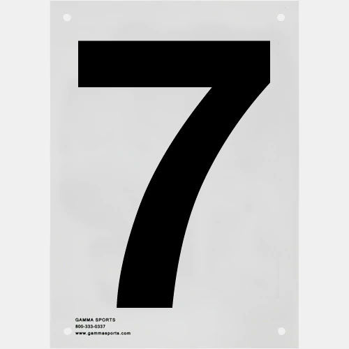 Gamma Tennis Court Numbers (Plastic)