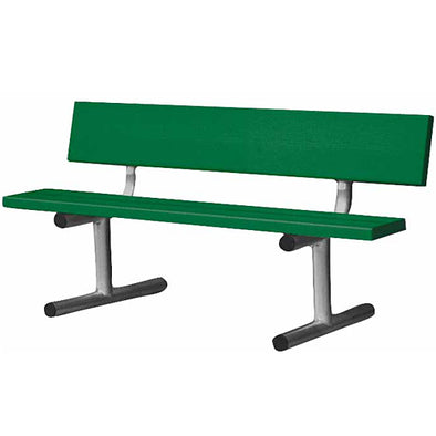 Edwards 5' Aluminum Bench with Back - Green