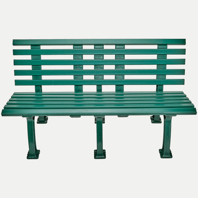 Unique 5' Polyethelene and PVC Bench with Back - Green