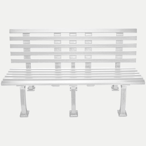 Unique 5' Polyethelene and PVC Bench with Back - White