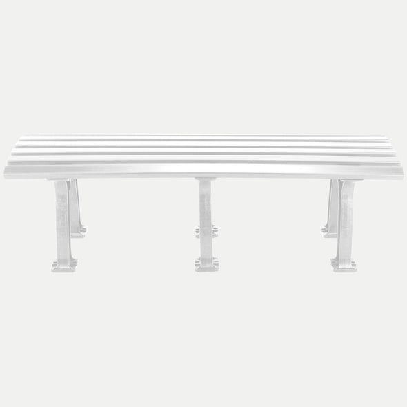 Tourna 5' Polyethelene and PVC Bench - White