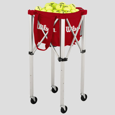 Wilson Tennis Teaching Cart with Red Bag