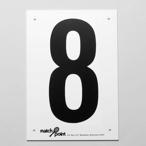 Tennis Court Numbers- Plastic