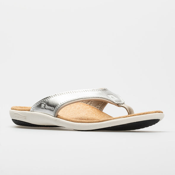Spenco Yumi Metallic Women's Silver