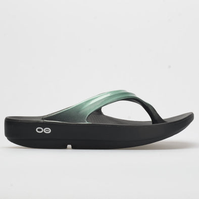 Oofos OOlala Women's Black/Metallic Mint