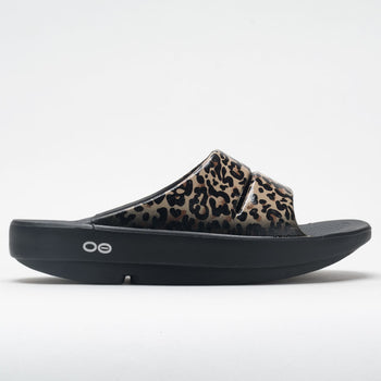 OOFOS OOahh Limited Women's Black Leopard (Item #570530)