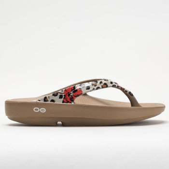 OOFOS OOlala Limited Women's Taupe Leopard Flora (Item #570555)