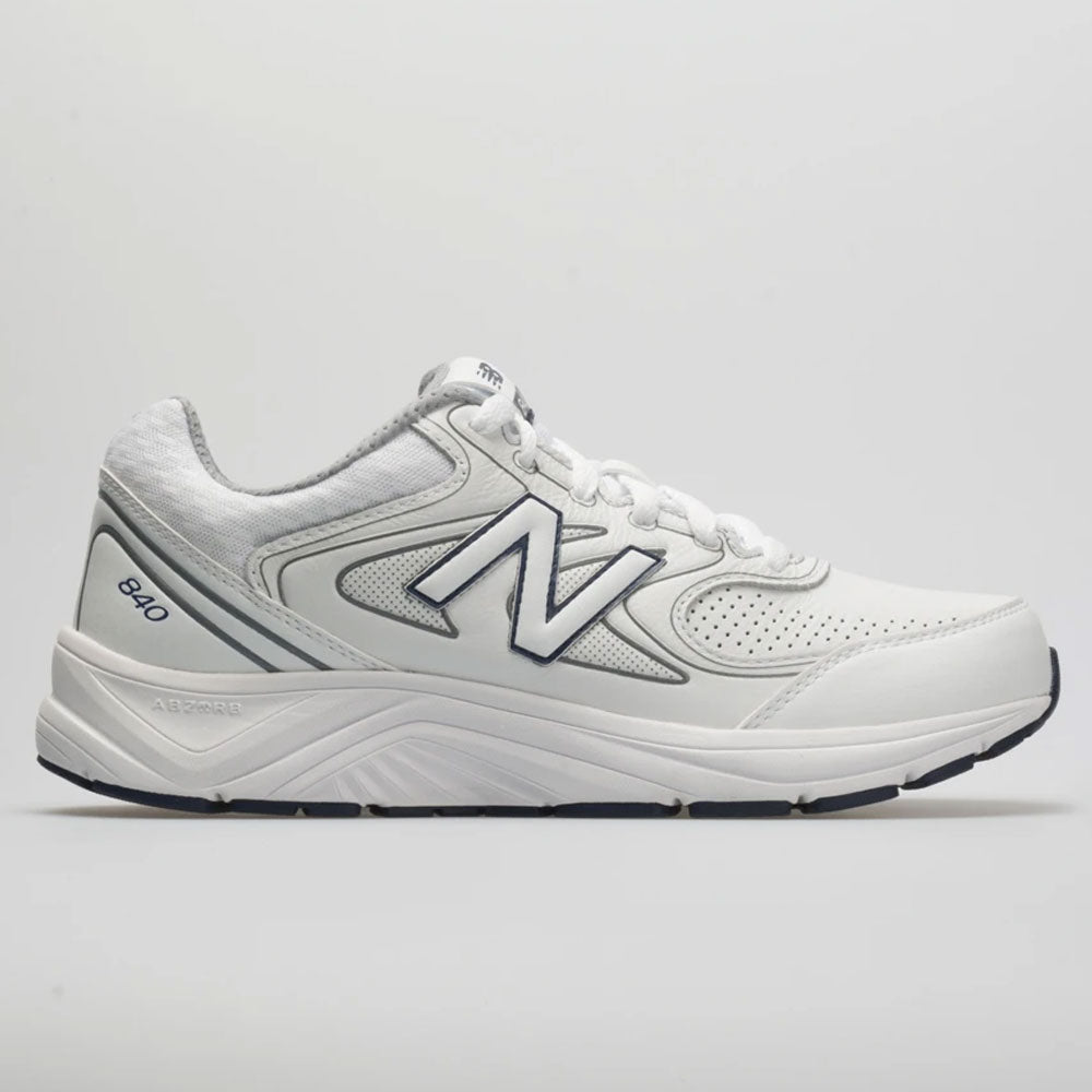 New Balance MW840WT2 Men/'s 840v2 White//Navy//Grey Leather Walking Sneaker Shoes