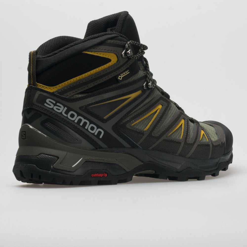 timeless design f5262 c4972 Salomon X Ultra 3 Mid GTX Men's Castor Gray/Black/Green Sulphur