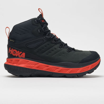 Hoka One One Stinson Mid GTX Men's Anthracite/Mandarin Red