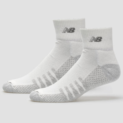 New Balance Quarter with Coolmax White Socks 2 Pack
