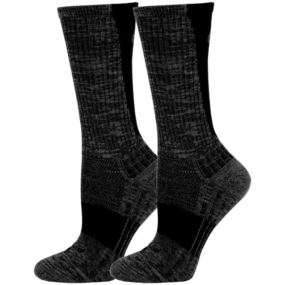 The FITSOK TwistDye Crew Limited Edition 2 Pack socks are here just in time for chilly fall and winter weather. These trendy crew length socks feature Fitsoks Shadow Yarn, which provides an extra soft feel and premium durability for plenty of wear during countless activities. The TwistDye fabric helps reduce moisture collection, promoting a warm and cozy environment for your feet.   FLOWTEK™ Channels promote airflow on all sides of the foot, dispersing heat and moisture around the foot. Superior Venting mesh construction expedites removal of heat from the foot. Max Arch Support alleviates foot fatigue by providing a supportive fit around the arch. Microban® technology provides antimicrobial benefits to fight the growth of odor causing bacteria to keep socks cleaner and fresher.