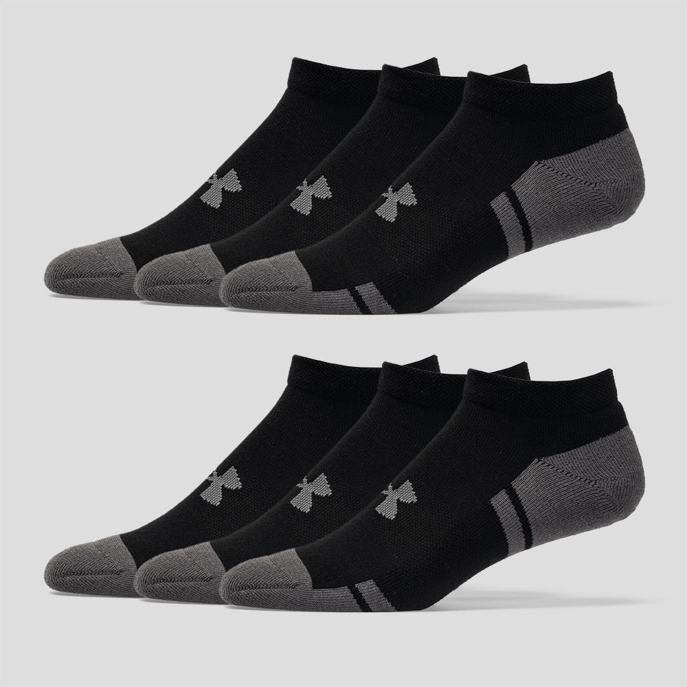 e01ecd7e9fa6 Under Armour Resistor III No Show Socks 6 Pack Men's