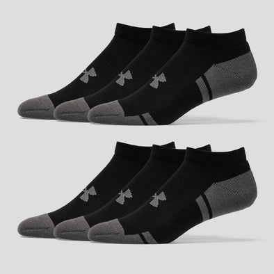 Under Armour Resistor III No Show Socks 6 Pack Men's