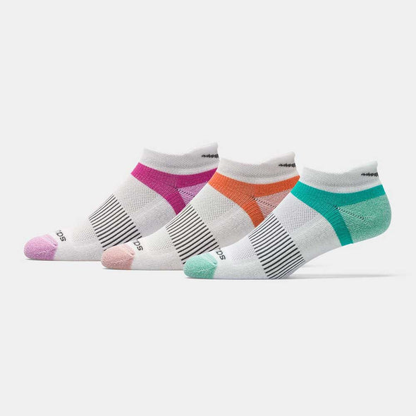 Saucony Inferno No Show Tab Socks 3 Pack