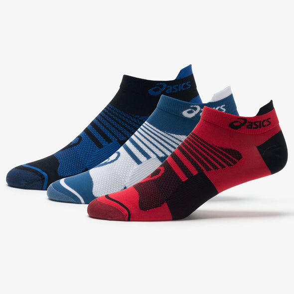 ASICS Quick Lyte Plus No Show Tab Socks 3 Pack Men's