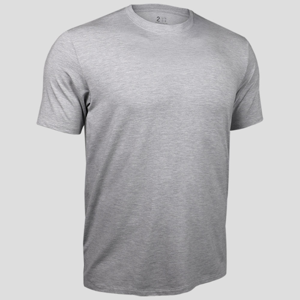 2UNDR Crew Neck Tee Men's Tennis Apparel  Grey : Part of the 2UNDR Loungewear Collection, the 2UNDR Crew Neck Tee offers the comfy, lived-in feel with a premium look. Lightweight and breathable single jersey fabric with Dry-Balance technology will have guys feeling absolutely at home in this t-shirt, whether they are catching a movie on the couch or hitting the gym for leg day. Made for:  Performance Comfort Style    Featured in a crew neck style. 4-way stretch fabric for high impact performance. Offers lightweight, dry comfort and low odor retention.