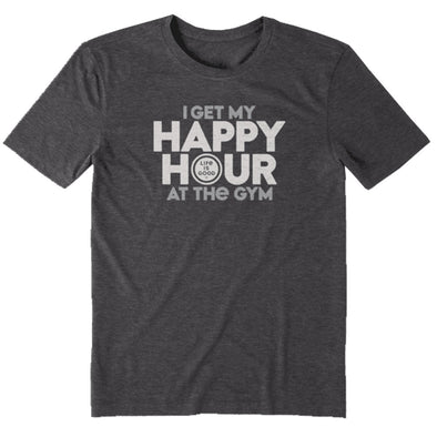 Life is Good I Get My Happy Hour Cool Tee Men's
