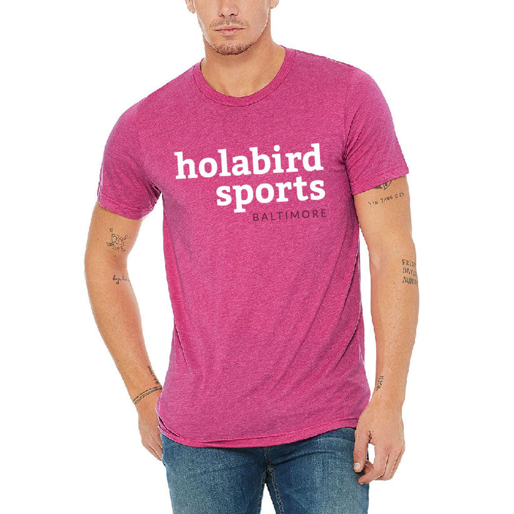 Holabird Sports Baltimore Tees Running Apparel Berry with White/Dark Berry