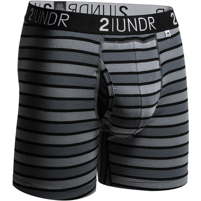 "2UNDR Swing Shift 6"" Boxer Briefs Stripes"