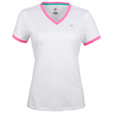 Fila Windowpane V Neck Top Women's