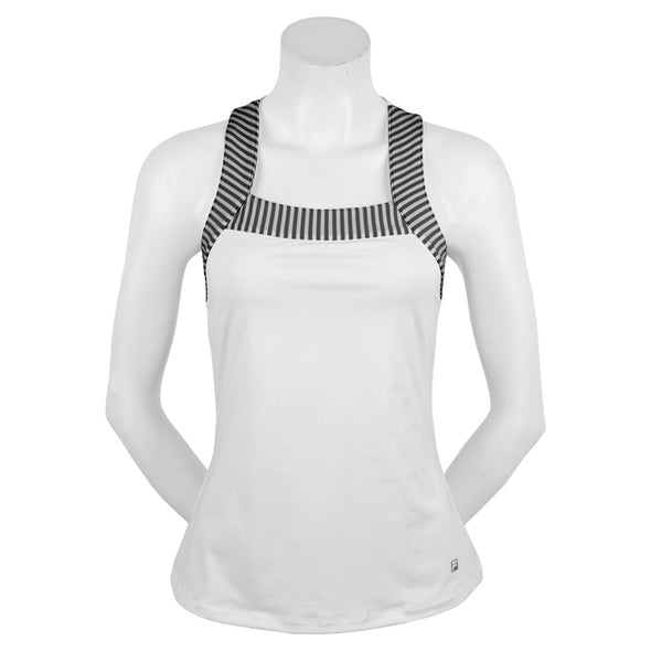 Fila Ruffles & Stripes Stripe Trim Tank Women's