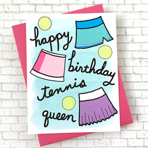 Racquet Smash Birthday Card