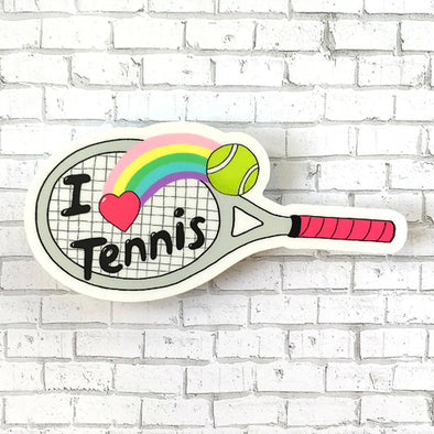 Racquet Smash Vinyl Sticker