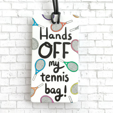 Racquet Smash Luggage Tag