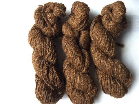 100 Yard Skein of 100% Alpaca 3-Ply Tweed