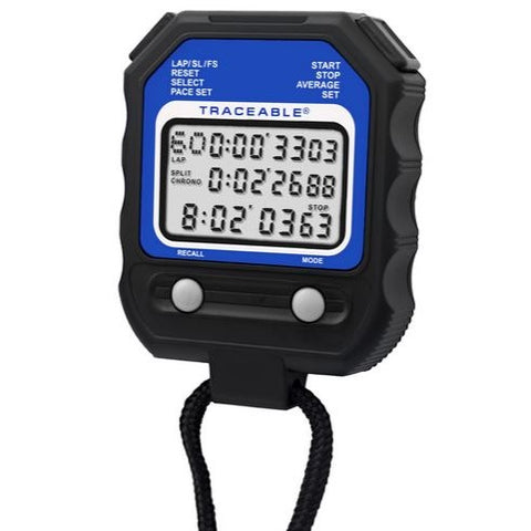 10 Hour, Programmable, Traceable, Digital Stopwatch