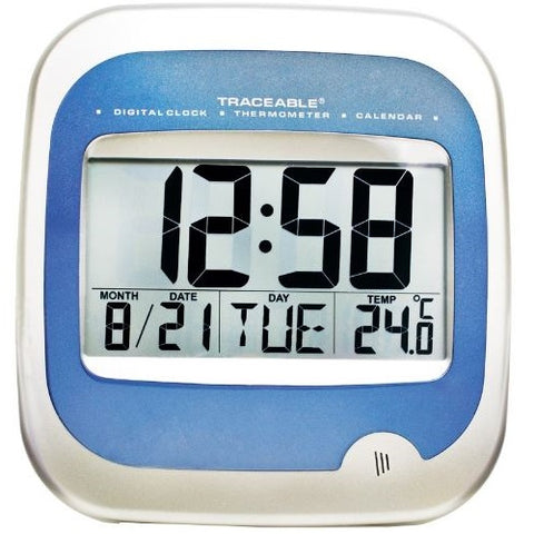 Large Display Traceable Digital Wall Calendar Thermometer Clock