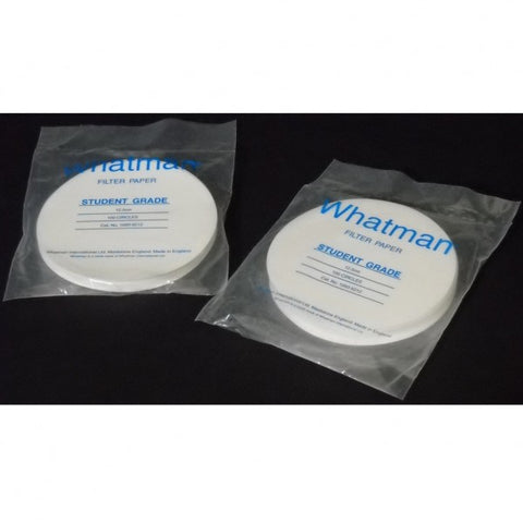 125mm Diameter, Medium Flow Rate, 10 µm, Qualitative Wet Strengthened Filter Paper, 100 Circles