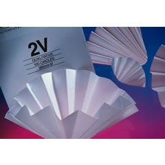 500mm Diameter, Medium Flow Rate, 8 µm, Creped, Qualitative Folded (Prepleated) Filter Paper, 100 Circles