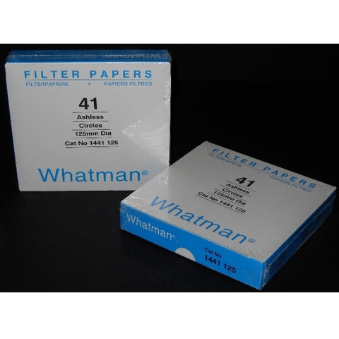 125mm Diameter, Fast Flow Rate, 20 µm, Ashless Filter Paper, 100 Circles