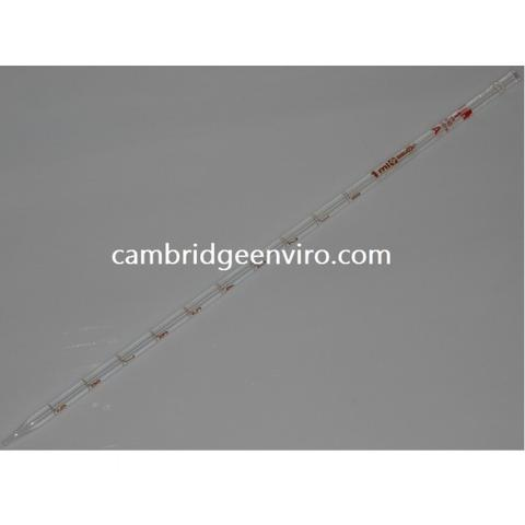 Sterile Glass Serological Pipettes - Cotton Plugged, Disposable