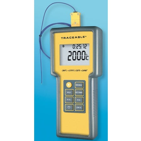 Thermometer -200 to 1370°C Digital, Meter with Probe