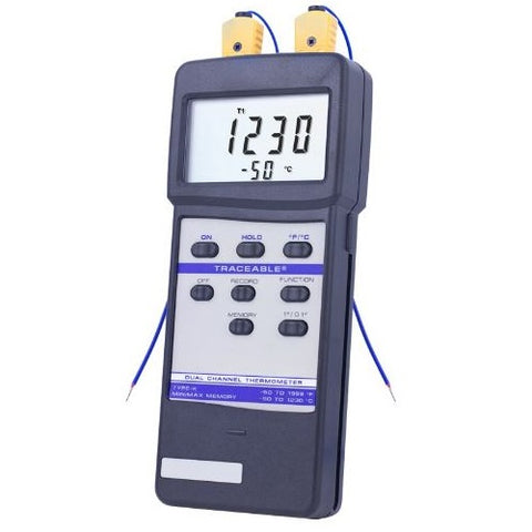 Thermometer -50 to 1230°C Digital Traceable, Dual Channel